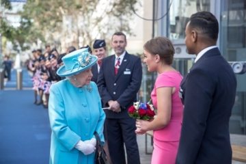 The Queen Visits British Airways' HQ To Celebrate Airline's Centenary