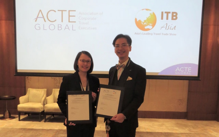 Katrina Leung, Executive Director, Messe Berlin (Singapore) and Benson Tang,  Regional Director, ACTE