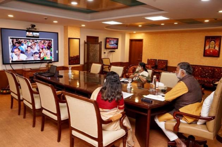Patel Virtually Joins the Inauguration of Project 'Development of Pilgrimage Amenities at Somnath'