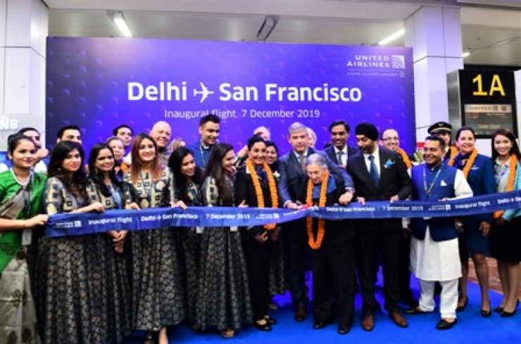 United Launches Direct Service on New Delhi - San Francisco Route