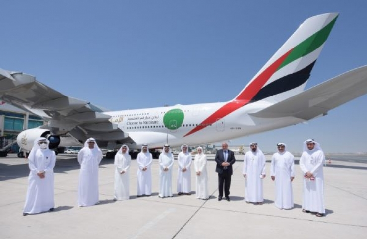 Emirates Operates Special Flight to Highlight UAE vaccination Drive