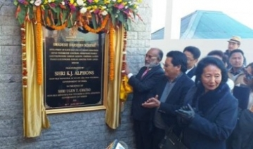 Alphons inaugurates the First Swadesh Darshan project in Sikkim