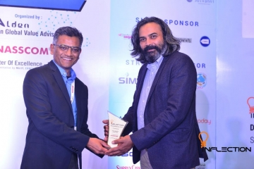 Neeraj Dotel, Managing Director India and SAARC, SAP Concur accepting the award