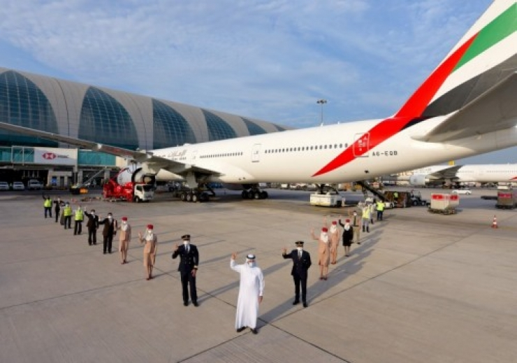 Emirates Operates Flight Serviced by Fully Vaccinated Frontline Teams
