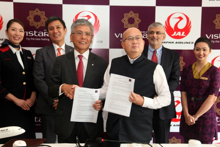 Japan Airlines signs MoU with Vistara